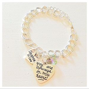 Hanalea Island Jewelry Co. Jewelry - ✨3 for $30✨Daughter in Law 🌸Silver Charm Bracelet